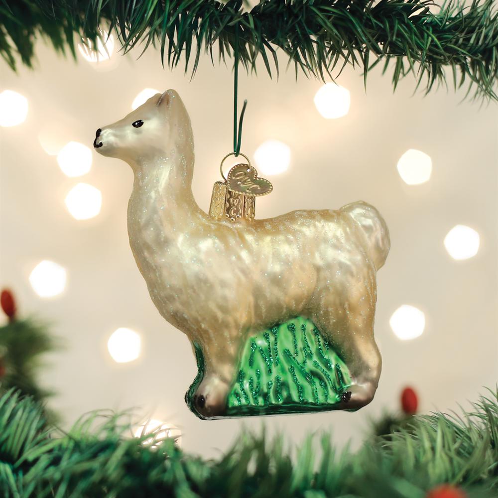 christmas llama ornament animals - Llama Christmas Decoration