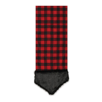68 inch red and black plaid table runner with fur trim - Christmas Plaid Table Runner