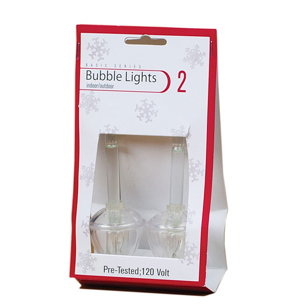 Pack Of 2 Clear Bubble Light Replacement Bulbs