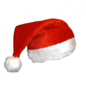 f643f4cc5eb3f Traditional Plush Christmas Santa Hat
