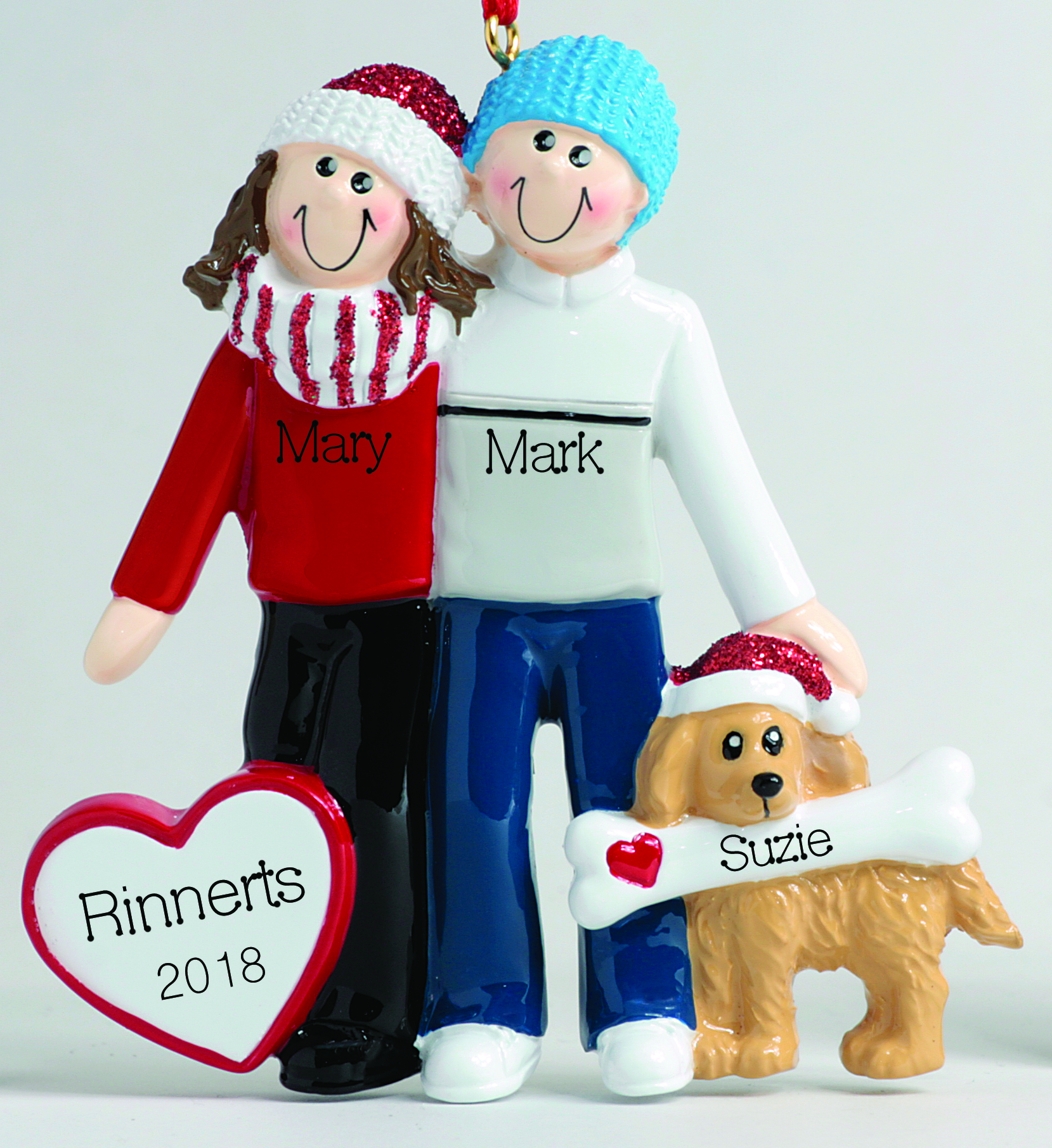 Couple With Dog Ornament – Christmas Store