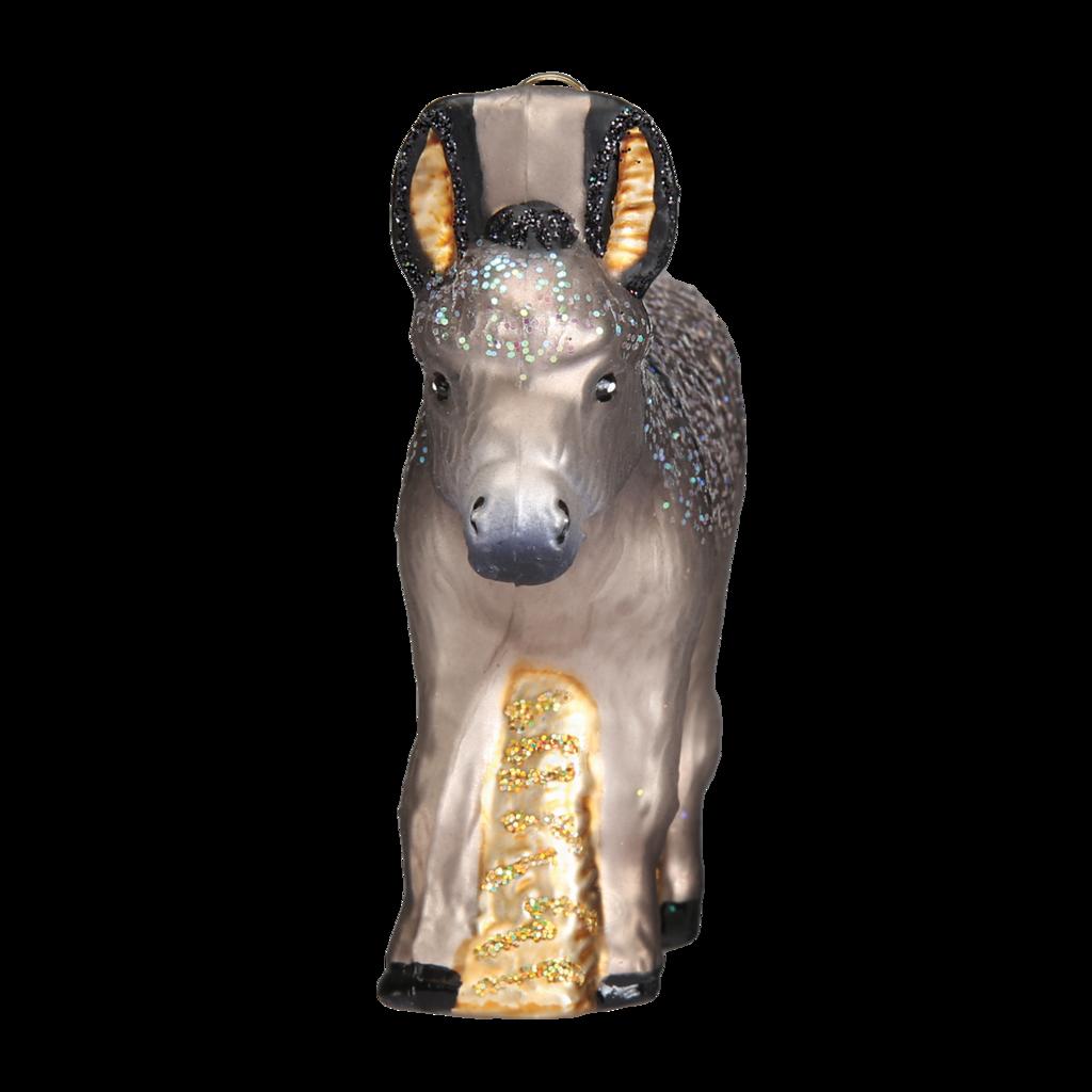 Donkey Christmas Ornaments.Old World Christmas Donkey Blown Glass Ornament Christmas Store