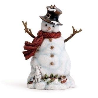 e1c490207b8 Snowman with Bird and Bunny Figurine