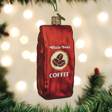 Coffee Christmas Ornaments.Old World Christmas Blown Glass Bag Of Coffee Beans Ornament