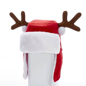 64a4a904b93df Red Santa Hat with Antlers. Christmas Clothes   Accessories ...