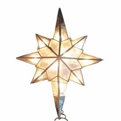 Tree Topper Capiz Star Clear