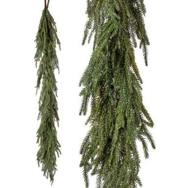 Christmas Pine Garland.Iced Garden Norfolk Pine Garland