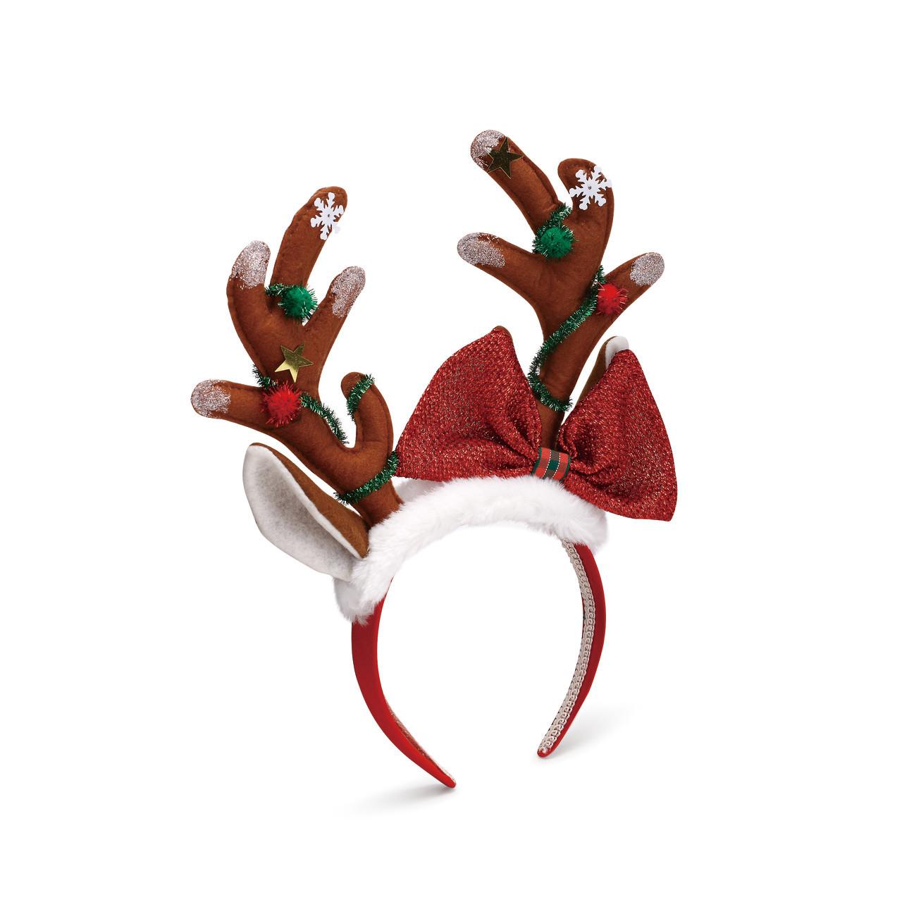 Christmas Headband Png.Reindeer Antlers Headband