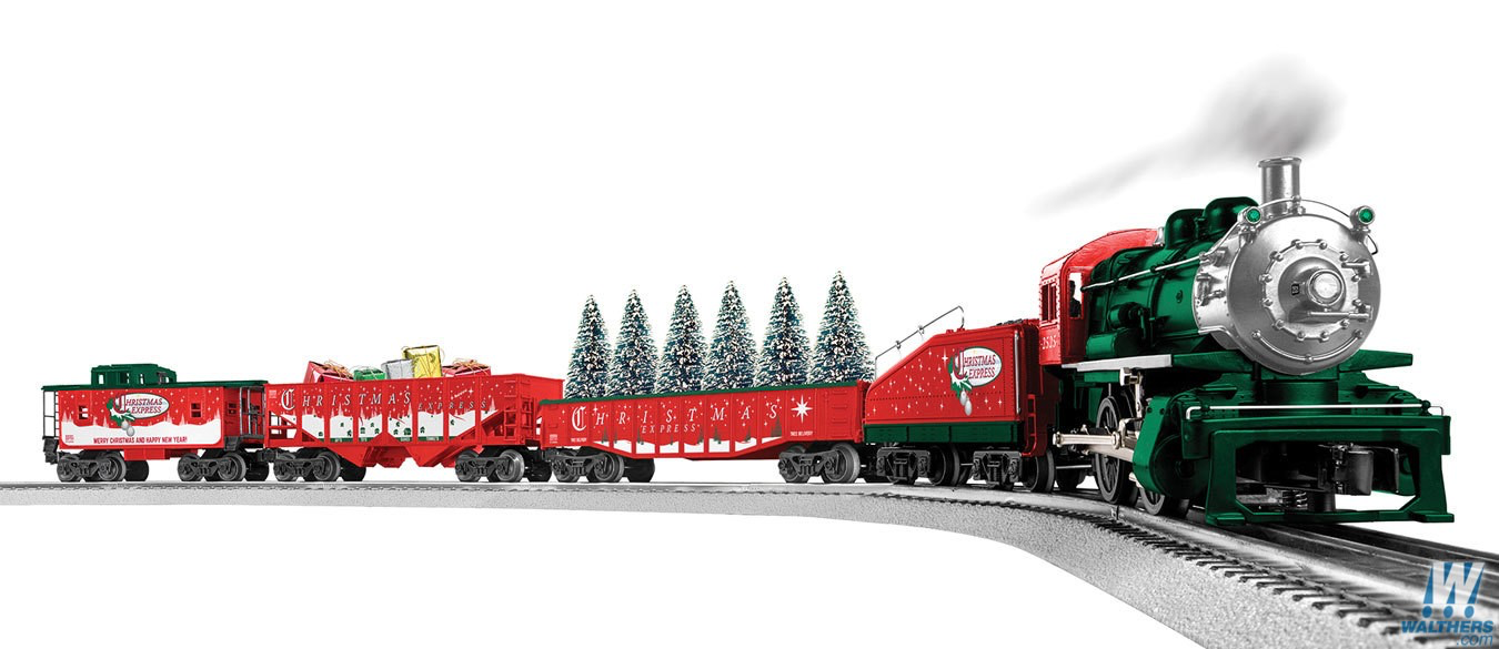 Christmas Train Set.Lionel Christmas Express Lionchief Train Set With Bluetooth