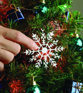 Snowflake Ornament Turn Tree On and Off with a touch