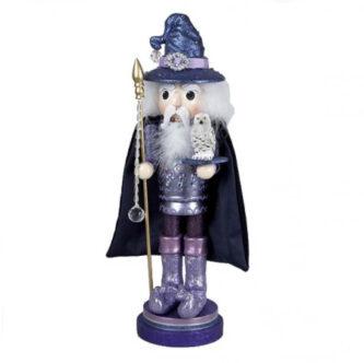 Puple Wizard Nutcracker with owl