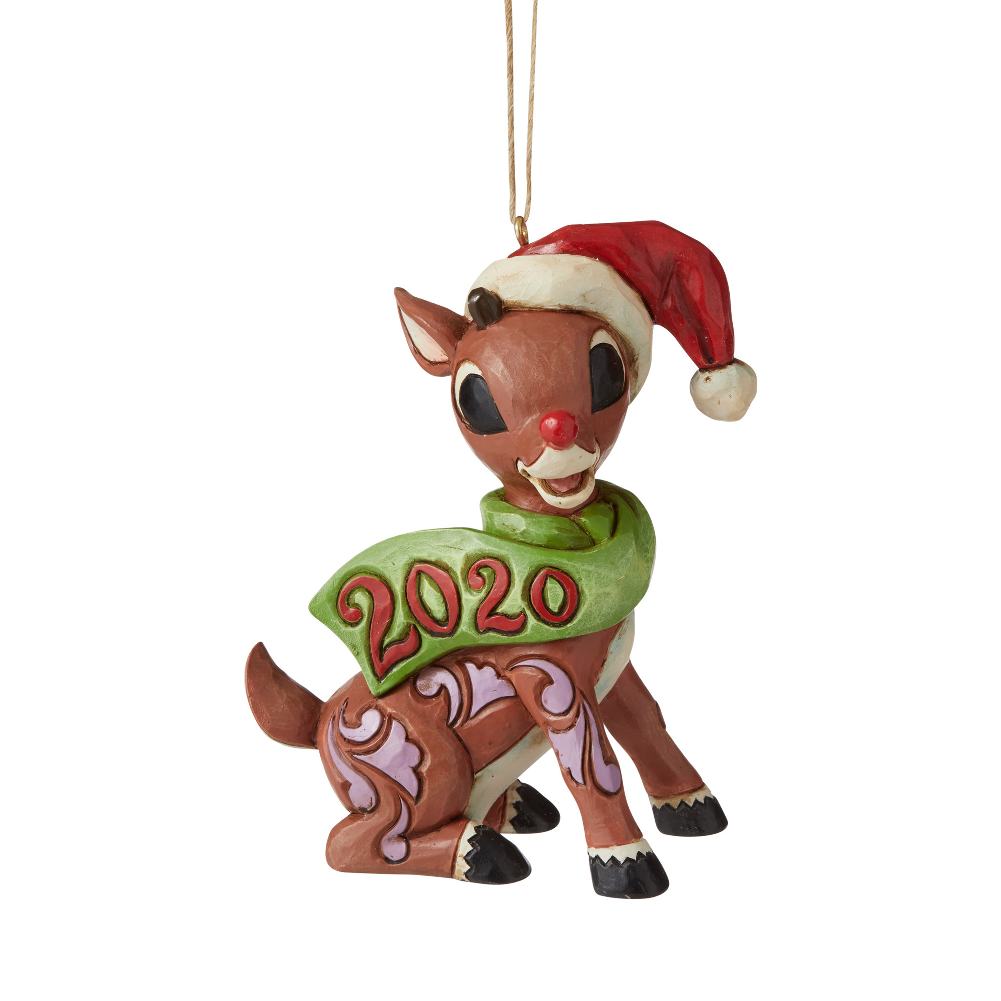 Jim Shore 2020 Christmas Ornament Jim Shore Rudolph With Candy Cane 2020 Ornament   Christmas Store