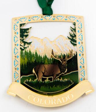 Colorado Elk Ornament