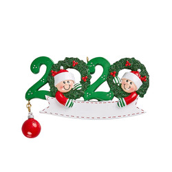 Family 2020 with Christmas Wreaths and Elves Personalized
