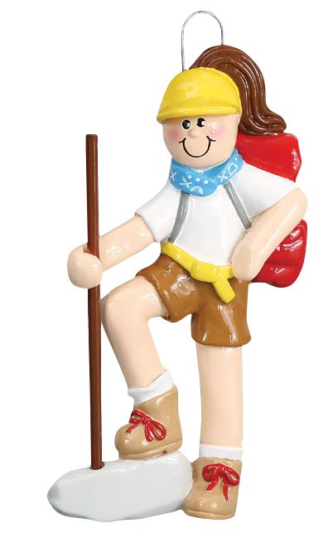 Girl Hiker with Red Backpack