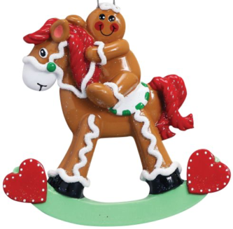 Gingerbread Child on Gingerbread Rocking Horse Personalize