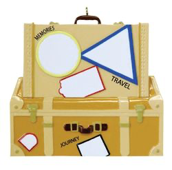 Suitcase and Travel Truck with Travel Stickers Personalize
