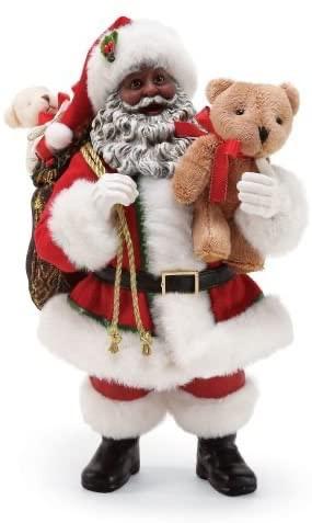 African American Santa Figurine