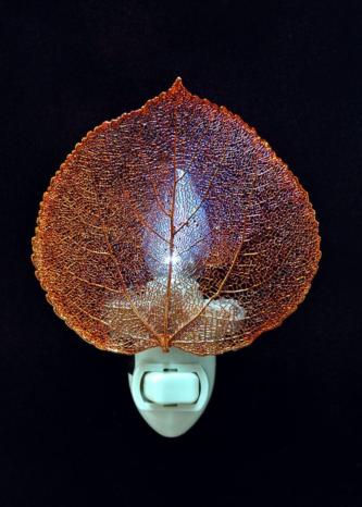 iridescent Aspen Leaf Night light