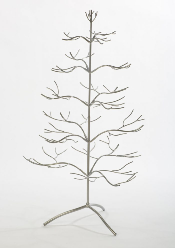 Silver Metal Tree with Branches for Ornaments