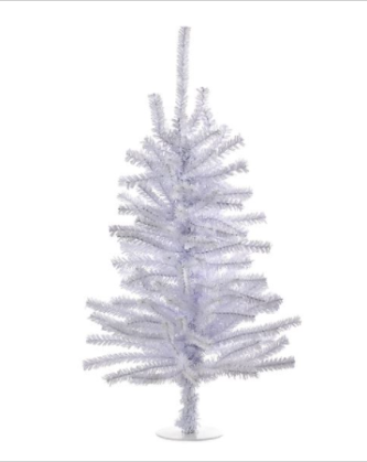"18"" Shiny White Tree"