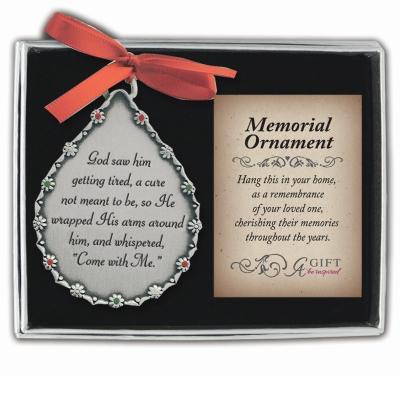 Teardrop Memorial Ornament for Him