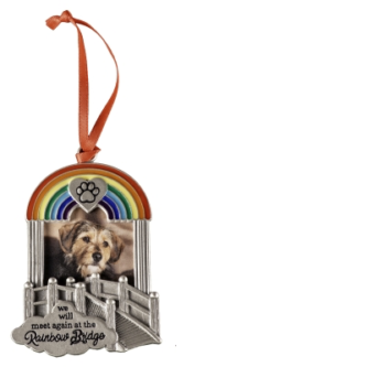 Rainbow Bridge Pet Frame Memorial Ornament