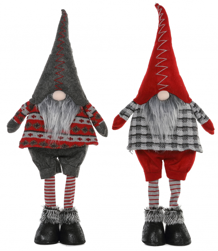 Standing Gnomes with Striped Stockings