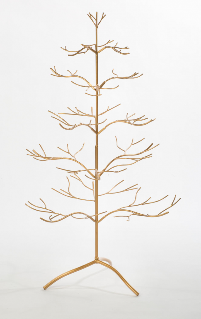Gold Ornament Tree made of Metal 3 ft High