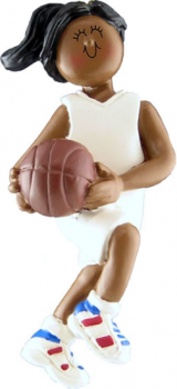 African American Girl Basketball Player Ornament Personalize
