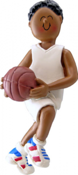 African American Basketball Player Personalized Ornament