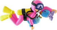 Pink Scuba Diver Personlized Ornament