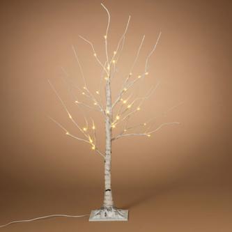 White Birch Tree 3' White Lights Branch Tree