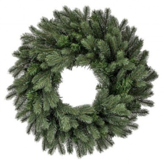 Colorado Spruce Wreath in Three sizes Lit with White Lights or Unlit