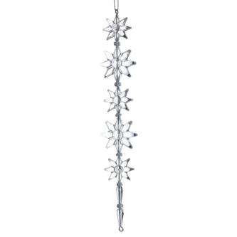Acrylic Snowflake Drop Ornament