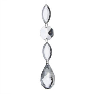 Drop Acyrlic Four Piece Ornament
