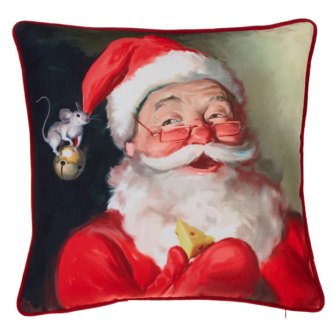 Santa with Mouse Pillow