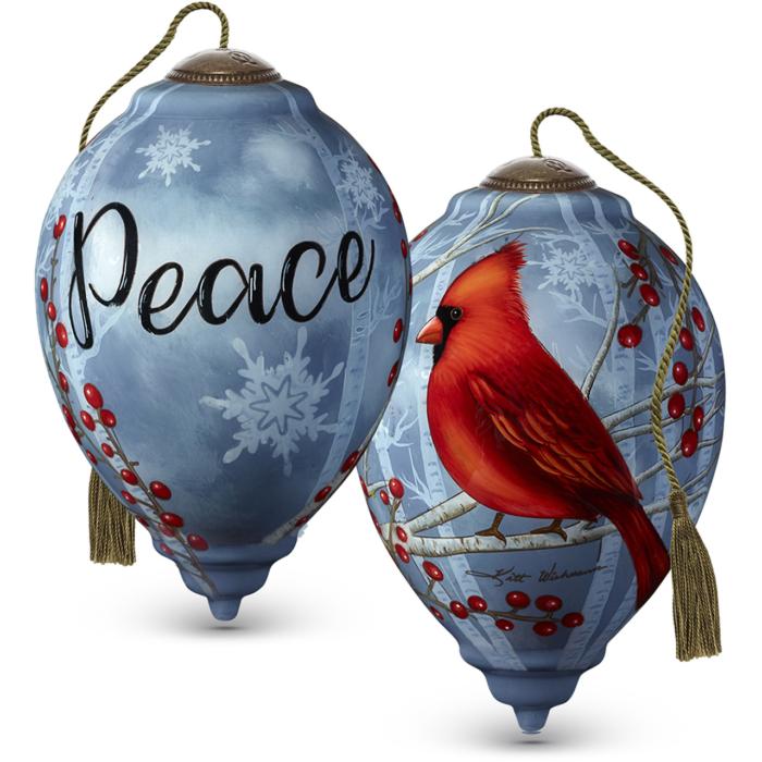 Peace Cardinal NeQua Ornament