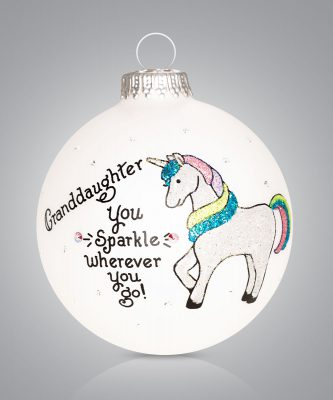 Granddaughter Ornament with Unicorn Personalize