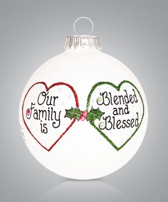 Blended Family Ornament Blended and Blessed Personalize