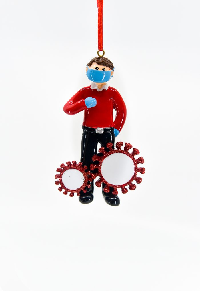 Surviving Corona Guy Personalized Ornament Christmas Store