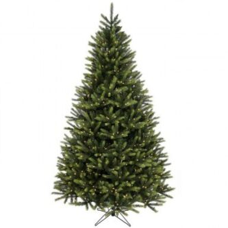 Full Christmas Tree Kingston Spruce pre lit clear or multi lights