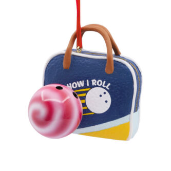 Bowling Ball and Bag Ornament
