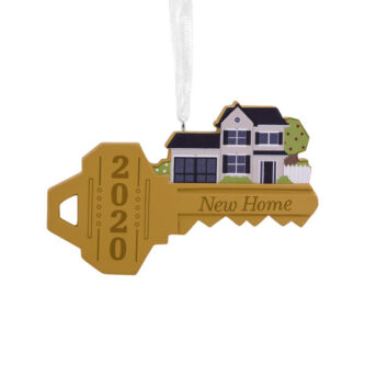 New Home 2020 Key Shaped Ornament