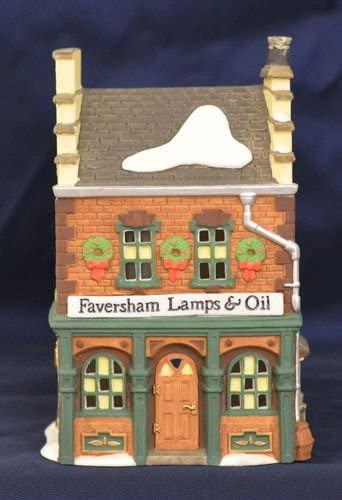 Faversham Lamps & Oil Dept. 56 heritage Village Dickens' Village Retired