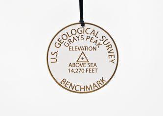 Grays Peak Geological Benchmark Ornament Colorado Fourteeners