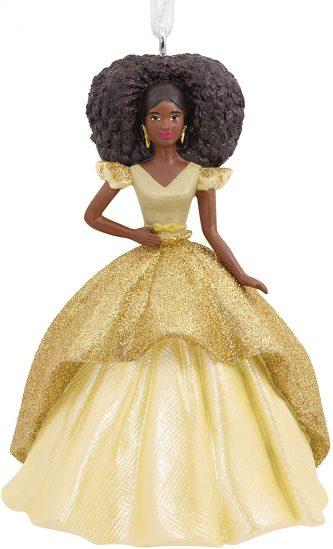 African American Barbie Ornament