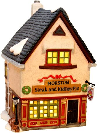 Morston Steak and Kidney Pie Shop Dept. 56 Rare Retired