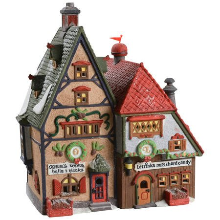 Dept. 56 Retired Heritage Village North Pole Series Obbies Books Balls & Blocks and Letrinka Nuts & hard Candy