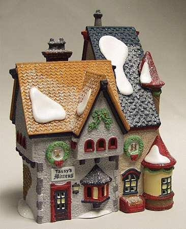 Tassy's Mittens & Hassel's Woolies Dept. 56 Retired Heritage Village North Pole Series